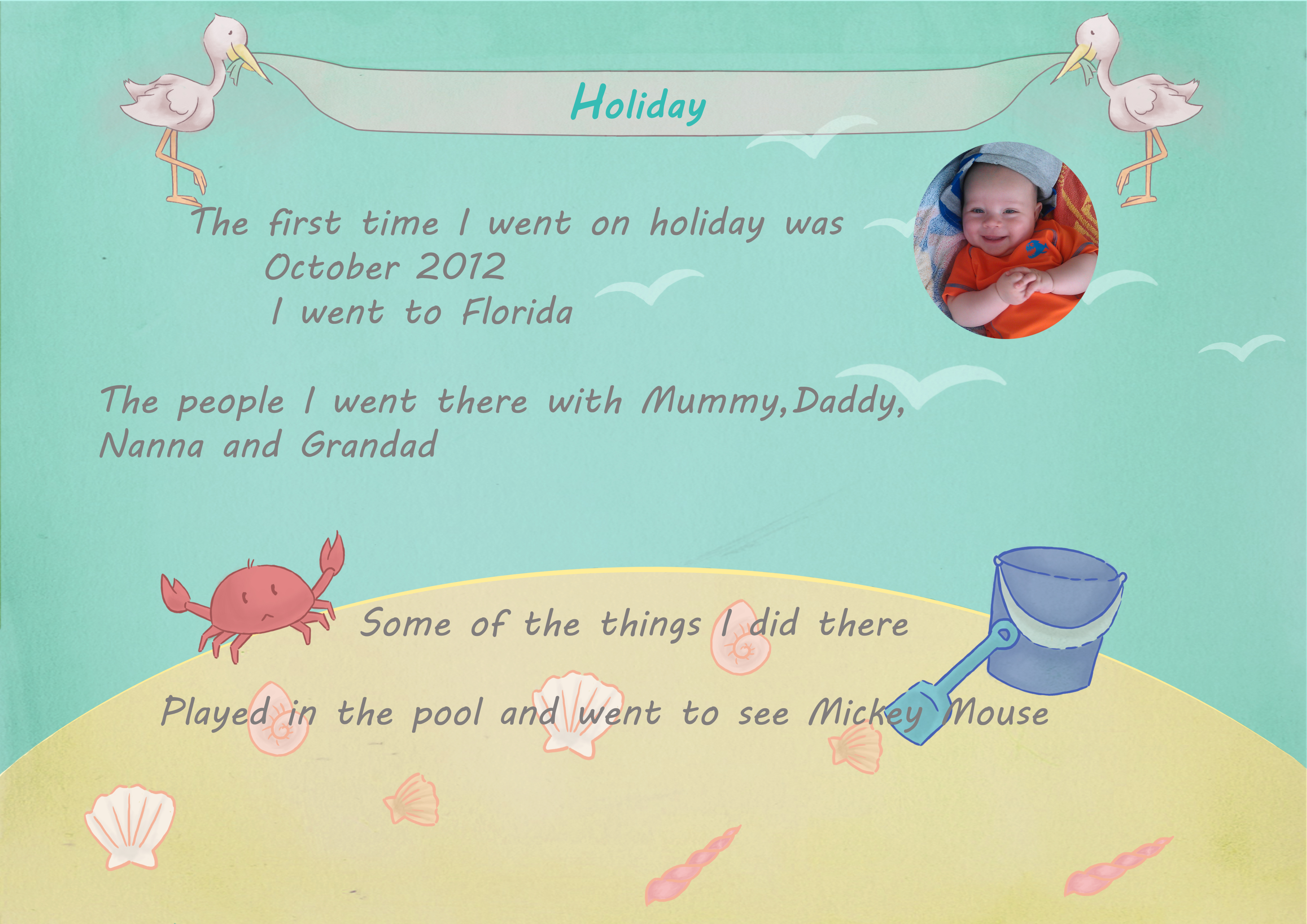 Baby Biography Holiday page